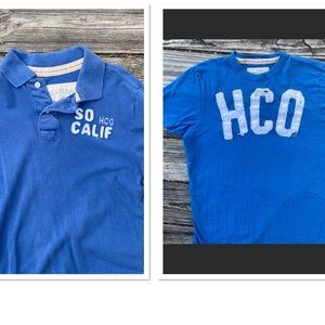 2 Sz L Hollister polo shirt/T-shirt